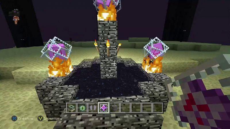 Summoning the Ender Dragon (Image via YouTube)