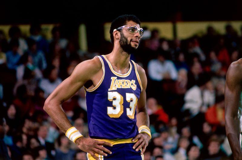 Kareem Abdul-Jabbar with the LA Lakers