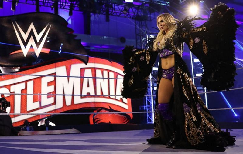 Charlotte Flair at WrestleMania 36 last year