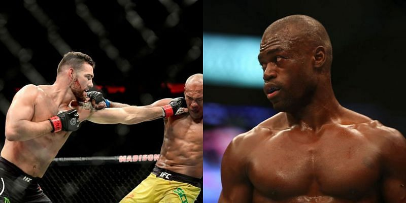 Chris Weidman (left) and Uriah Hall (right)