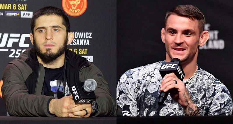 Islam Makhachev (Left) and Dustin Poirier (Right)