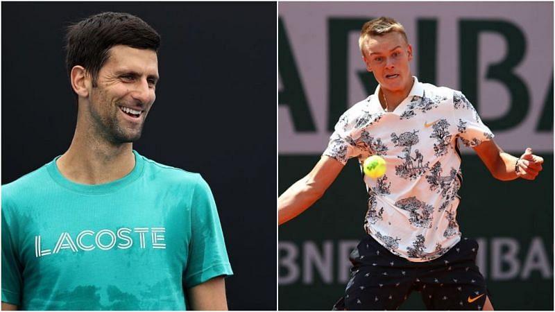 Holger Rune and Novak Djokovic