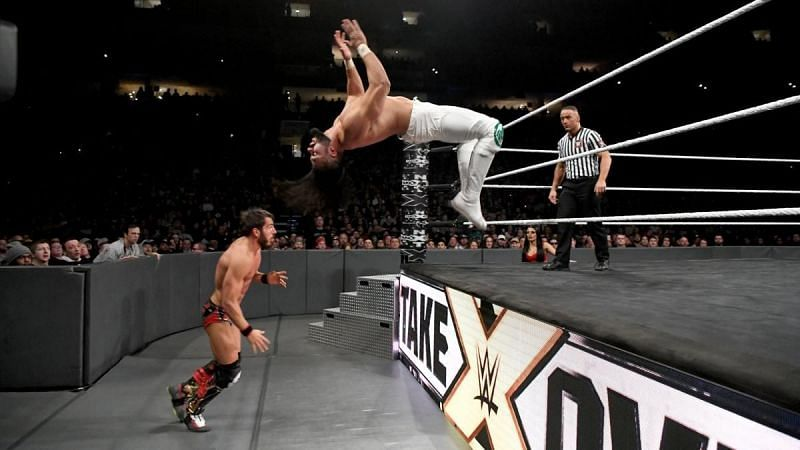 Johnny Gargano (left) and Andrade (right)