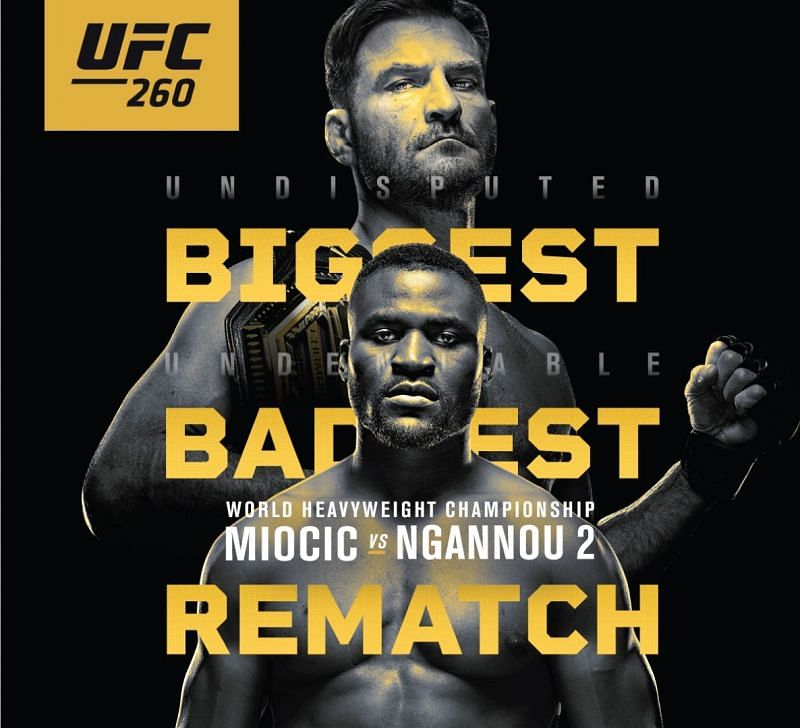 UFC 260: Miocic vs Ngannou 2 will be streamed live on ESPN and ESPN+