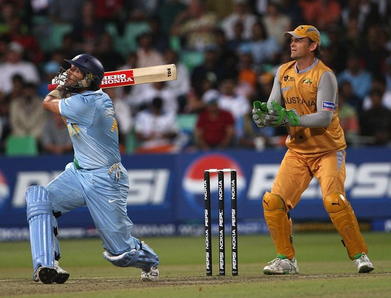 Yuvraj Singh (L) helped Team India to win its only T20 World Cup in 2007.