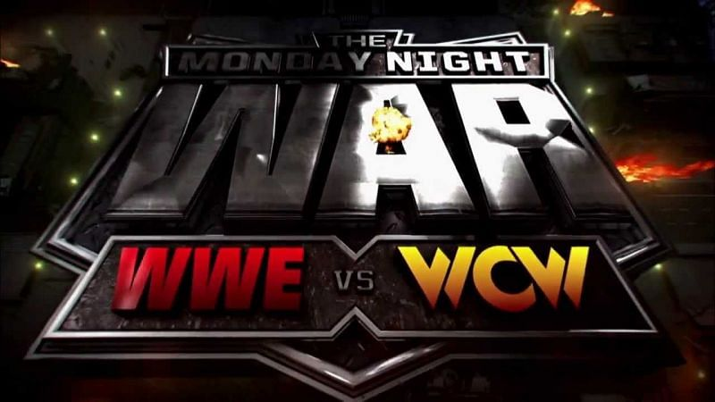 A graphic depicting the Monday Night Wars