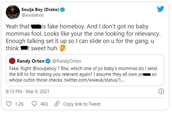 Soulja Boy reacts to Orton