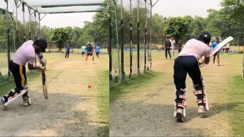 Wriddhiman Saha played some wonderful shots in his net session