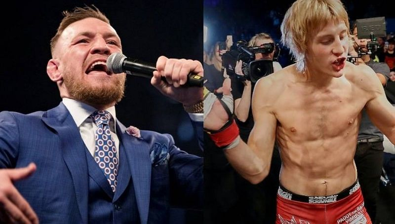 Conor McGregor (left); Paddy Pimblett (right)