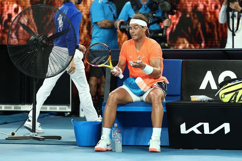 Rafael Nadal at the 2021 Australian Open