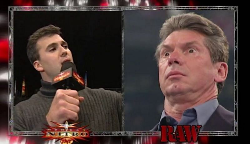 Shane McMahon appeared on WCW Nitro, while Vince McMahon appeared on WWE RAW.