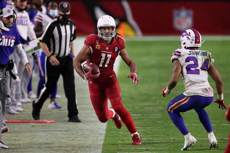 Larry Fitzgerald in NFL action for the Arizona Cardinals