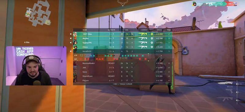 Scores from Game 1 (Image via Hiko)