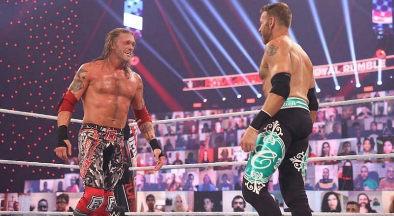 Edge and Christian at the 2021 Royal Rumble