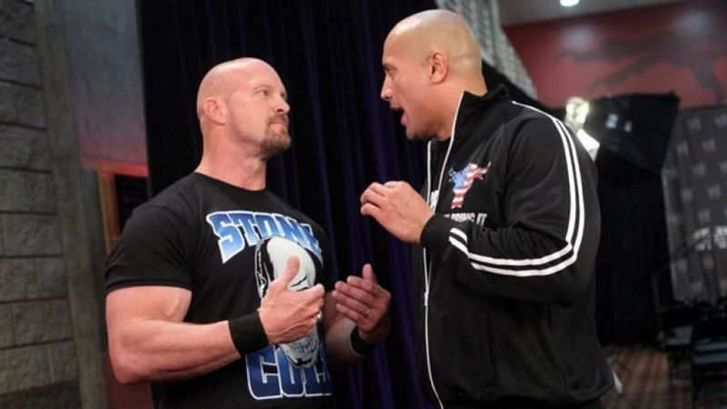Steve Austin and The Rock.