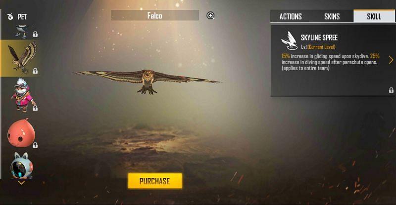 Falco pet in Free Fire