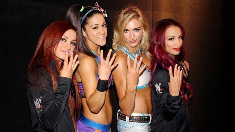 Becky Lynch, Bayley, Charlotte Flair, and Sasha Banks