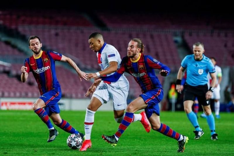 Barcelona were taken apart by Kylian Mbappe and co. in the first leg.