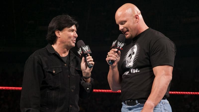 Eric Bischoff and Steve Austin feuded in WWE in 2003