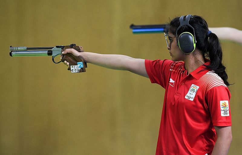 Manu Bhaker in 10m Air Pistol final at ISSF World Cup 2021