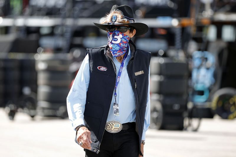 NASCAR legend Richard Petty is not happy about the sport returning to dirt tracks. Photo: Chris Graythen / Getty Images