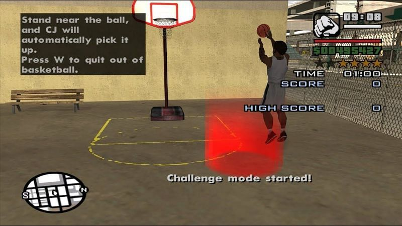 GTA San Andreas players could play basketball, do dancing minigames, or enter hydraulic car competitions (Image via ZMOONCHILD, YouTube)