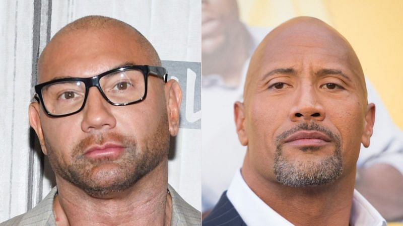 "The Rock and Batista are both famous ""bald"" men"