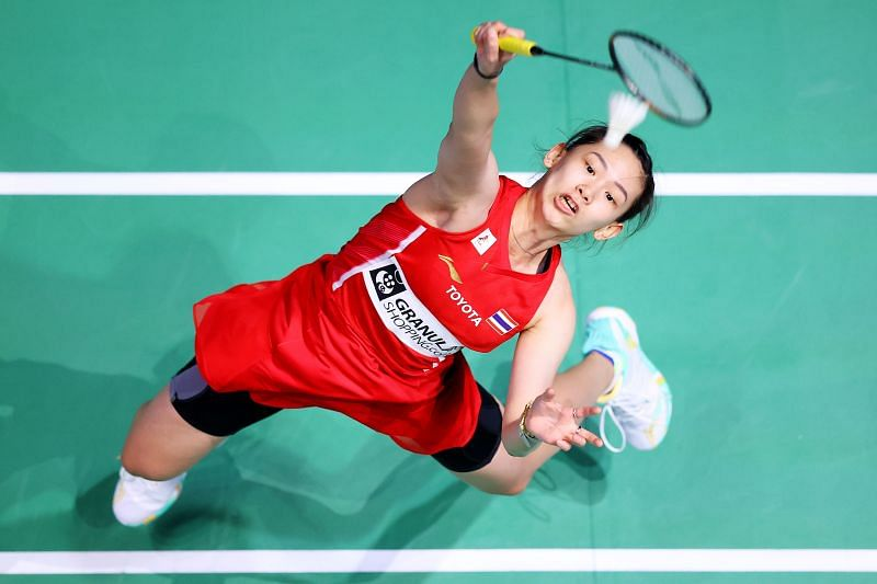Pornpawee Chochuwong in action at the All England Open 2021