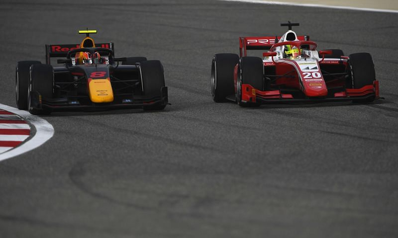Jehan Daruvala gave Mick Schumacher a run for his money with a stouch defense in F2 last season. Photo: Rudy Carezzevoli/Getty Images.