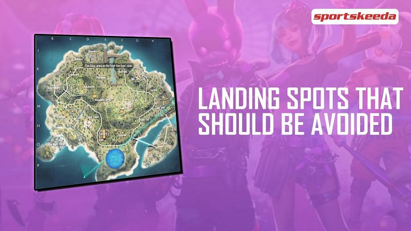 There are a couple of landing spots in Garena Free Fire that should be avoided by beginners