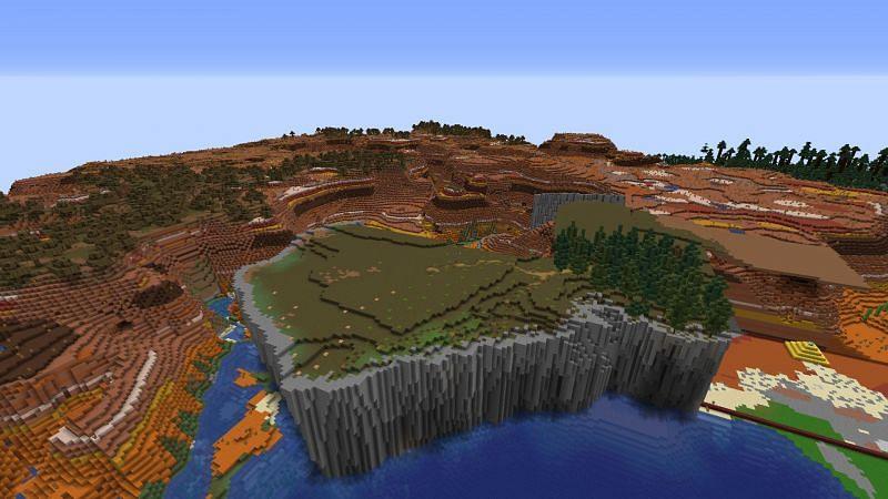 Mesa Biome terraform (Image via u/SickSidMC on Reddit)