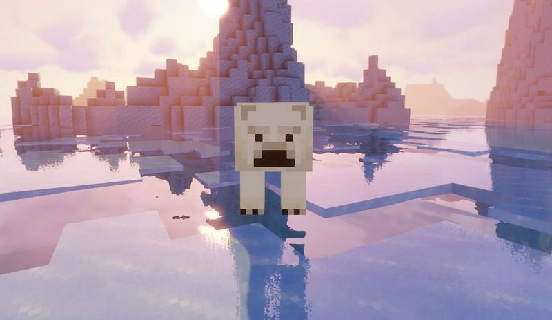 Polar bears are the only land mobs that can live on the Deep Frozen Oceans biome (Image via Minecraft)
