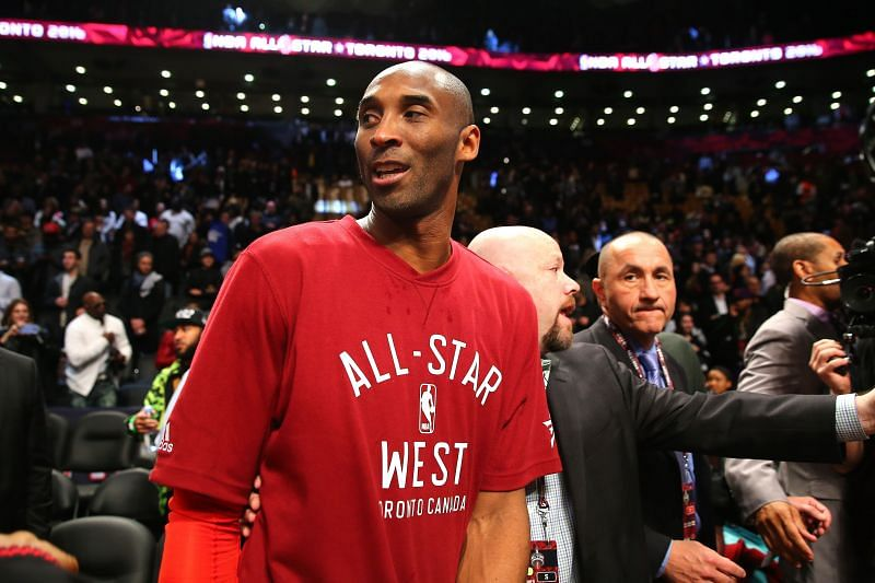 Kobe Bryant in the 2016 NBA All-Star Game, the last of his career.