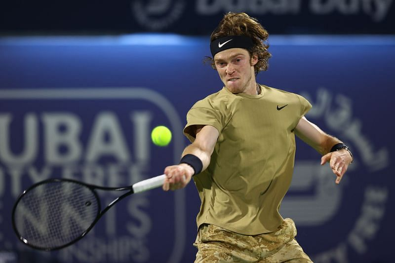 Andrey Rublev at the Dubai Open