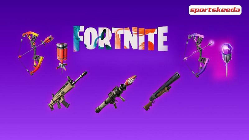 Best mechanical weapons found in Fortnite Season 6 (Image via Sportskeeda)
