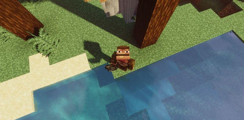 Monke do not like smelly Kelp (Image via Minecraft)