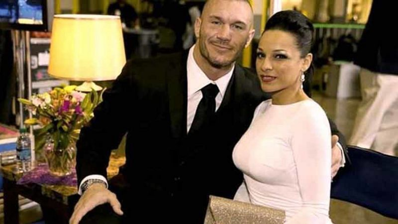 Randy Orton with his wife
