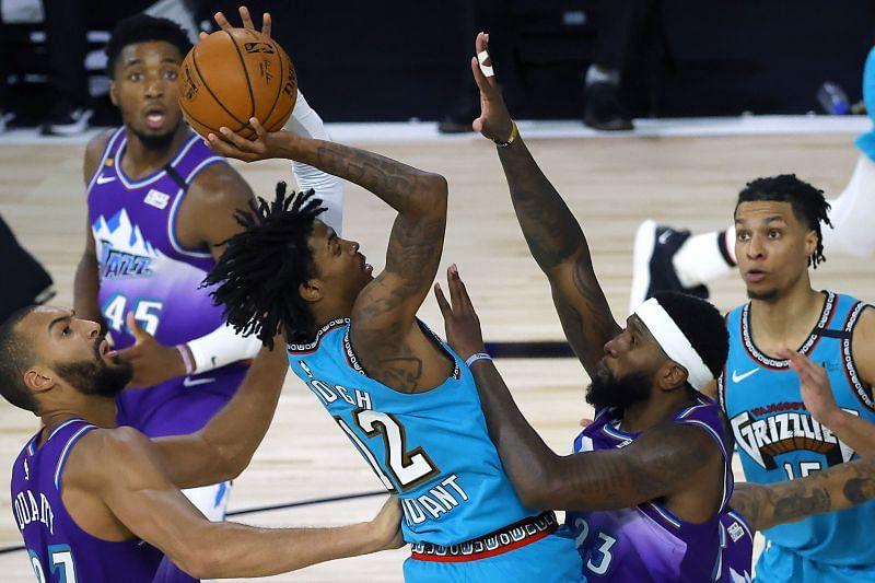 Ja Morant of the Memphis Grizzlies in NBA action against the Utah Jazz