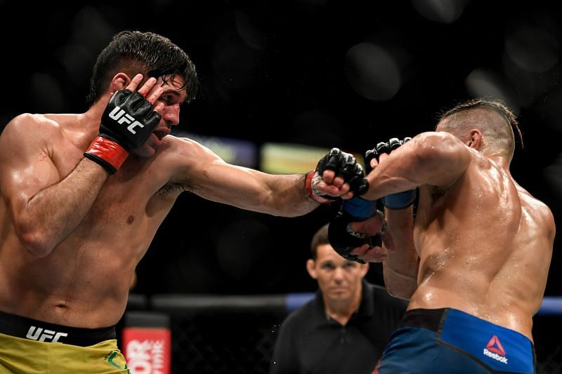 Vicente Luque will be looking to finish Tyron Woodley at UFC 260 this weekend.