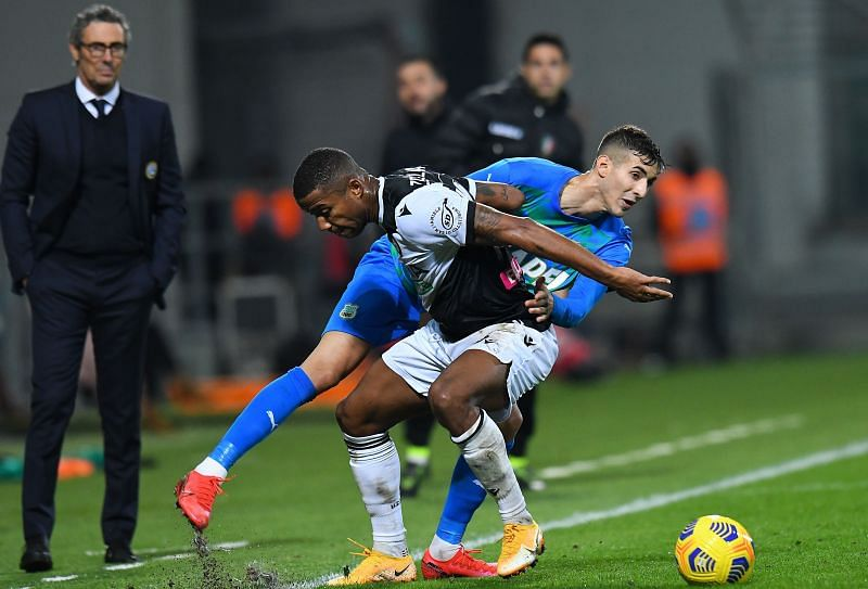 Sassuolo take on Udinese this weekend