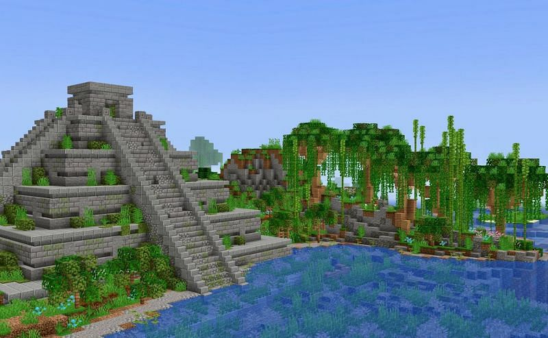 Imagine if the jungle temples looked like this instead (Image via u/Arobazzz on Reddit)