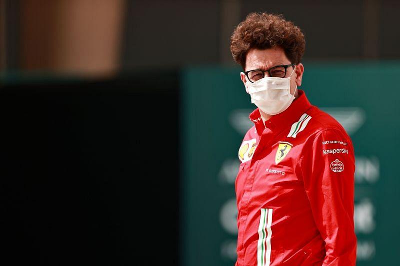 Mattia Binotto claims Ferrari has made progress in the straightline speed of the car. Photo: Mark Thompson/Getty Images.
