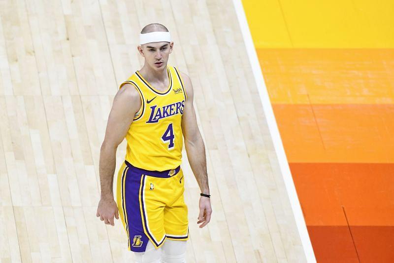 Alex Caurso with the LA Lakers