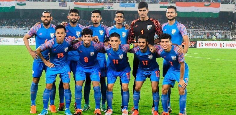 The Indian football team is fourth in Group E of FIFA World Cup 2022/AFC Asian Cup Round 2 qualifiers.