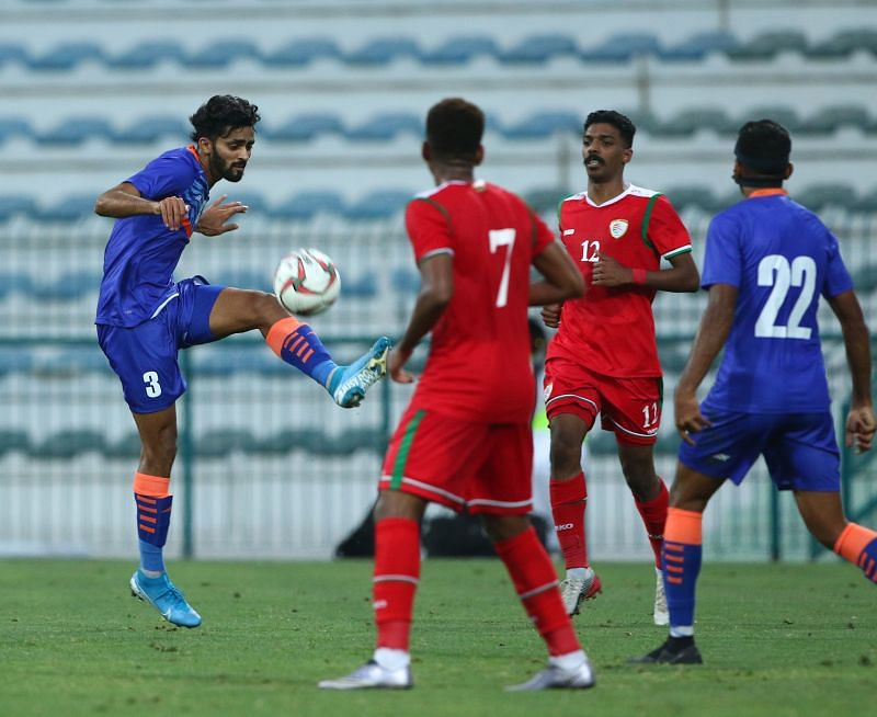 Akash Mishra was one of the 10 debutants against Oman. (Image: AIFF)