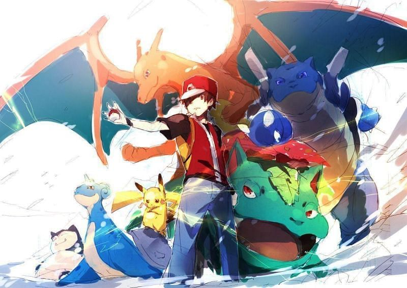 Pokemon Champion Red (Image via WallpaperSafari)