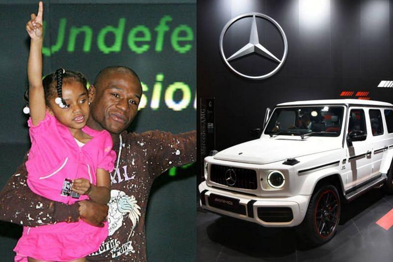 Floyd Mayweather with his daughter, Yaya Mayweather