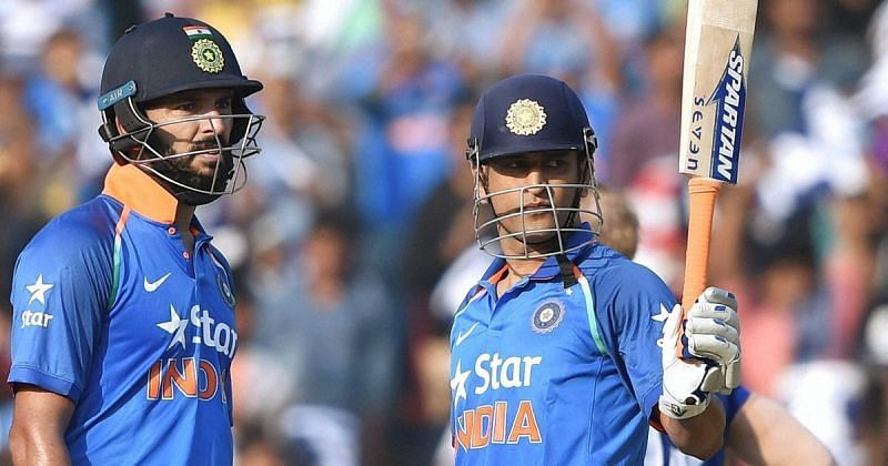 MS Dhoni and Yuvraj Singh turned back the clock in 2017