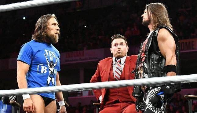 Daniel Bryan and AJ Styles on Miz TV.