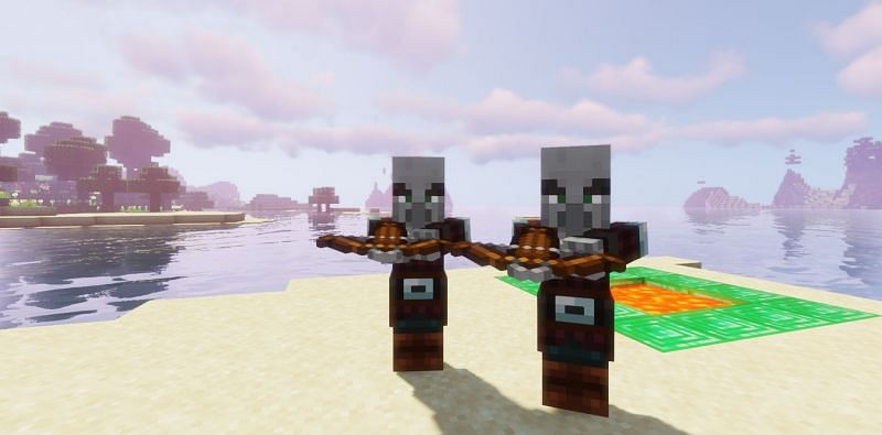 Pillagers with arrows (Image via Minecraft)